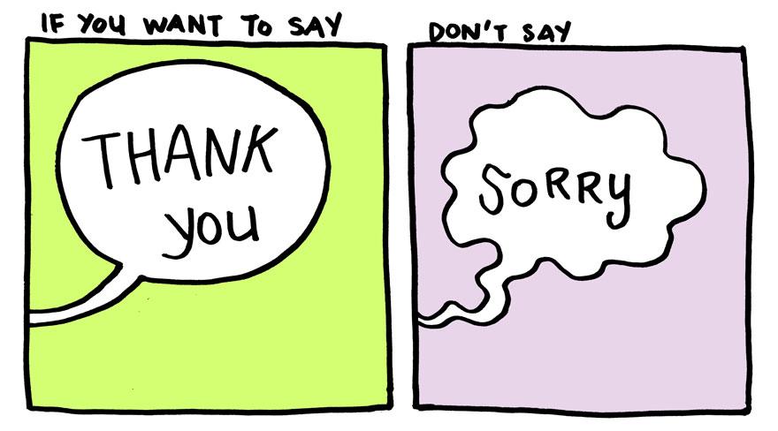 Comic clipart saying Yao you Saying saying sorry