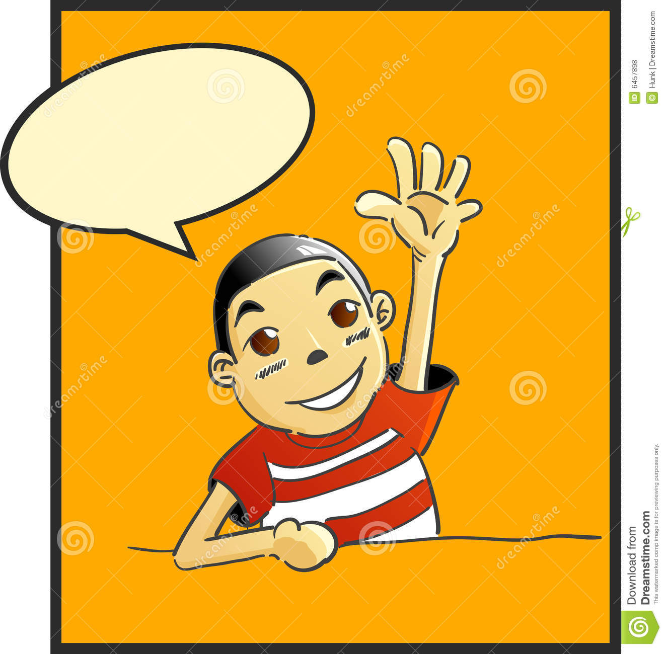 Comic clipart saying Say No Background To Boy