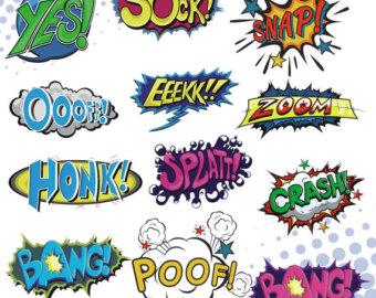 Saying clipart comic book #5