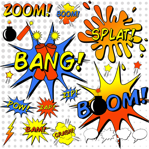 Saying clipart comic book And Dynamite Book Clipart Splat