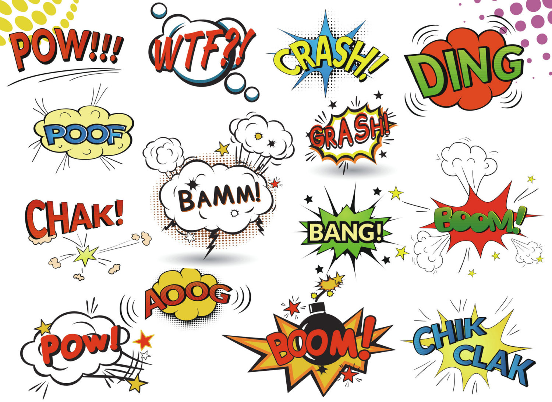 Saying clipart comic book #6