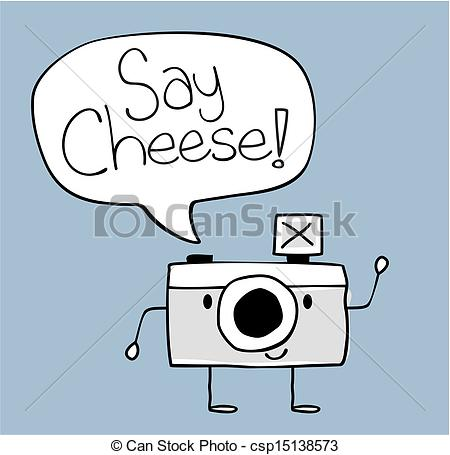 Camera clipart funny Illustration camera cheese Vectors cute