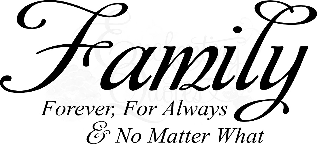 Saying clipart family quotes & Forever Wall Vinyl For