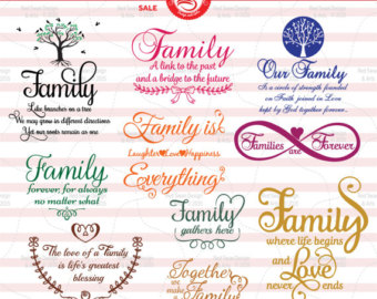 Saying clipart family quotes Family svg Cutting PDF Etsy