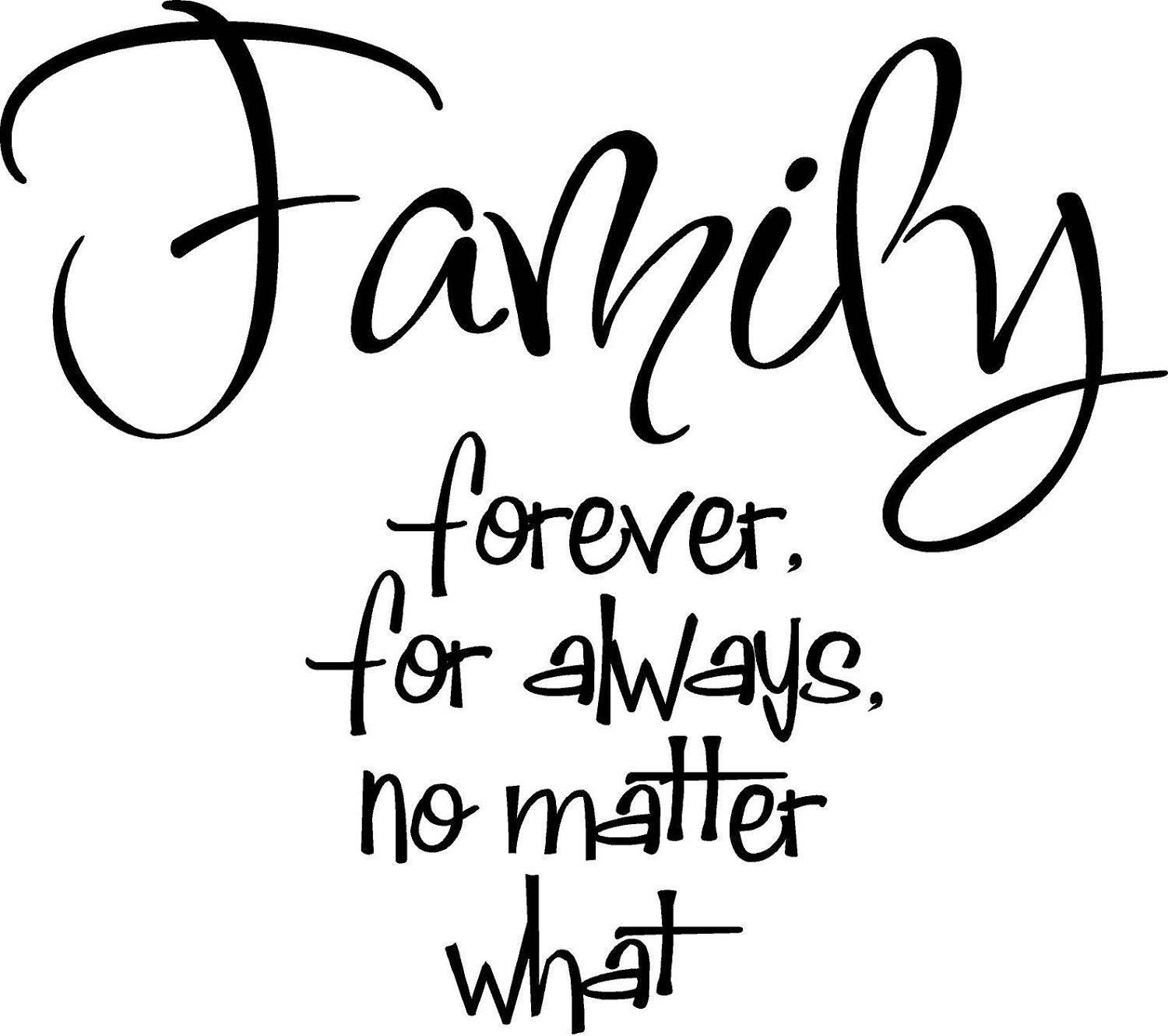 Saying clipart family quotes Family Matter  What Always