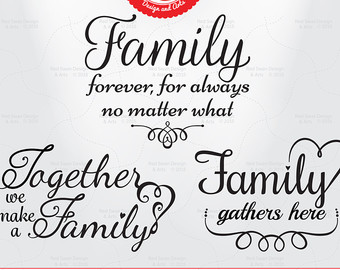 Saying clipart family quotes DFX 10 Cutting Set svg