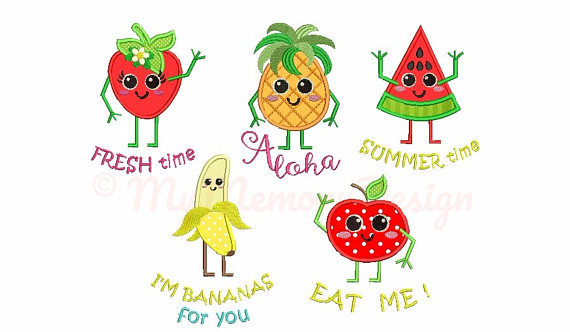 Saying clipart fruit Vip dst xxx Machine embroidery