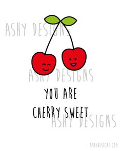 Saying clipart fruit Decor  cherries AshyDesigns wall