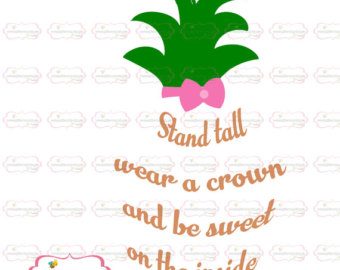 Saying clipart fruit Saying pineapple Pineapple file svg