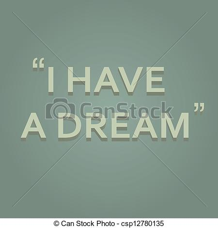 Saying clipart i have a dream #1