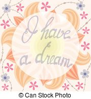 Saying clipart i have a dream Type 3D  onfloral A