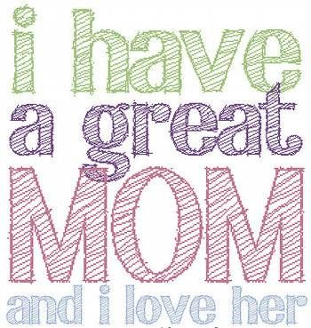 Saying clipart i love my mom #1