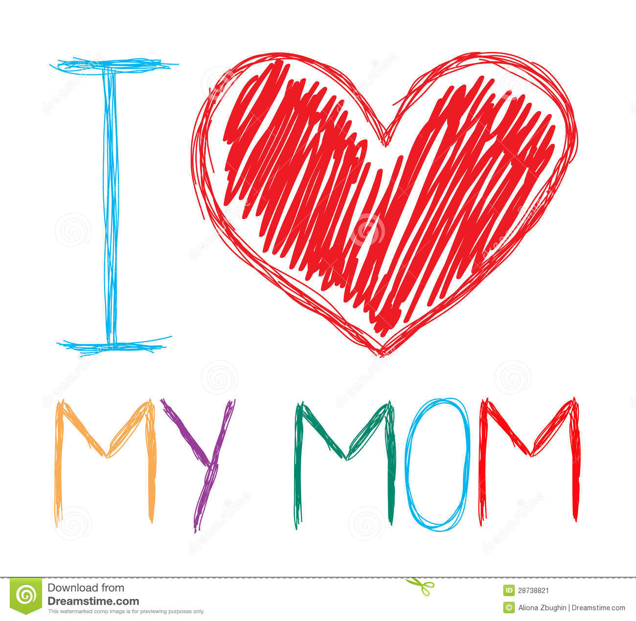 Saying clipart i love my mom #6