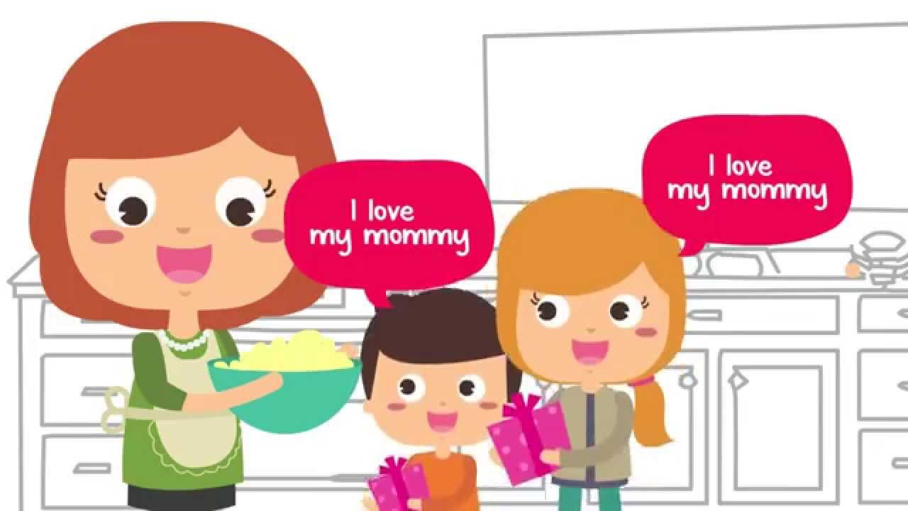 Saying clipart i love my mom Mothers YouTube I Day Kids