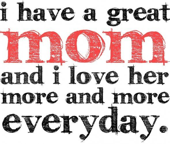 Saying clipart i love my mom #5