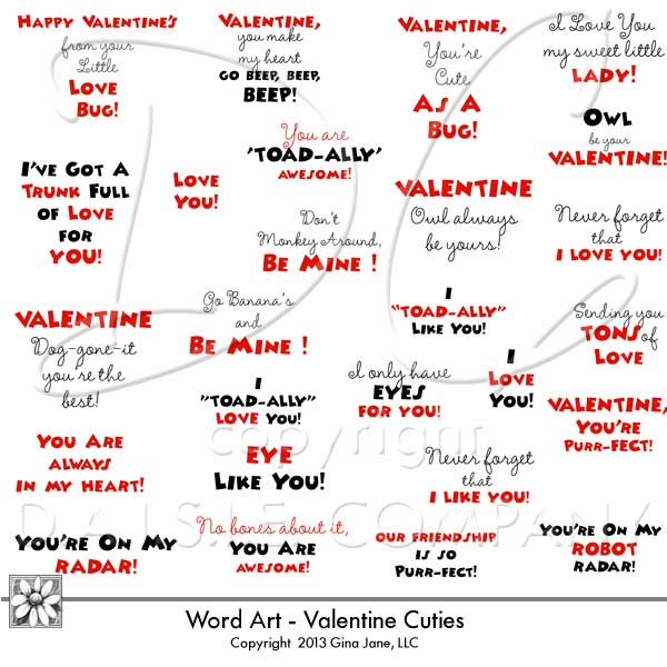 Saying clipart kid valentine #5