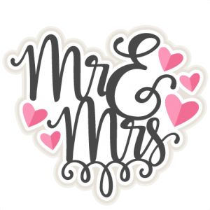 Saying clipart marriage Free Mr Mrs title cute