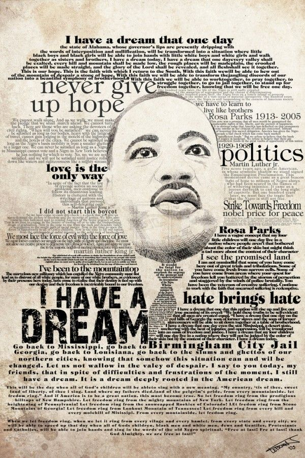Saying clipart martin luther king #7
