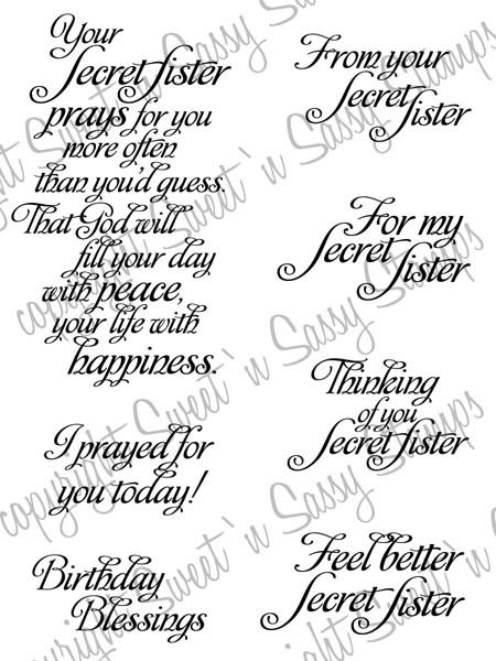 Saying clipart secret sister 'n Stamp Secret Digital Sister