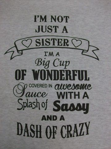 Saying clipart sister brother In crew neck Quotes Sister