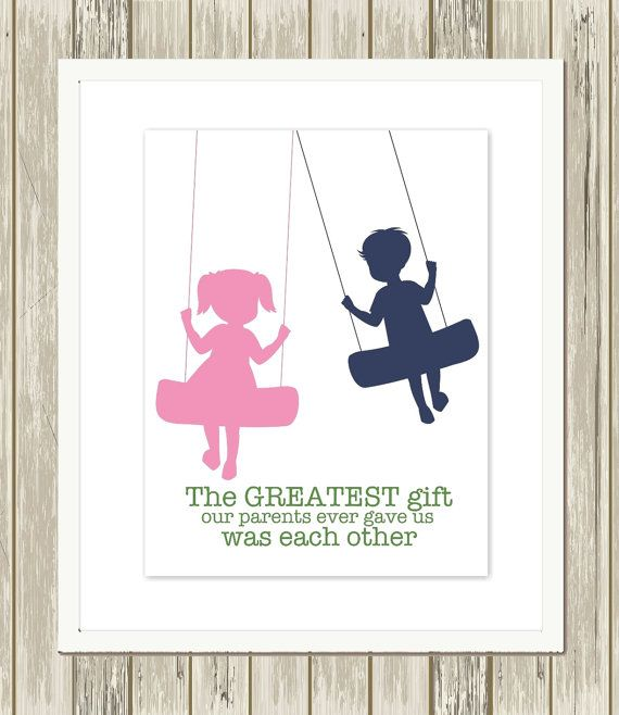 Saying clipart sister brother PicabooAr… wall art siblings art
