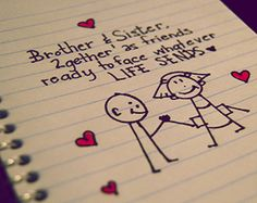 Saying clipart sister brother Quotes … Pinteres…  Brother