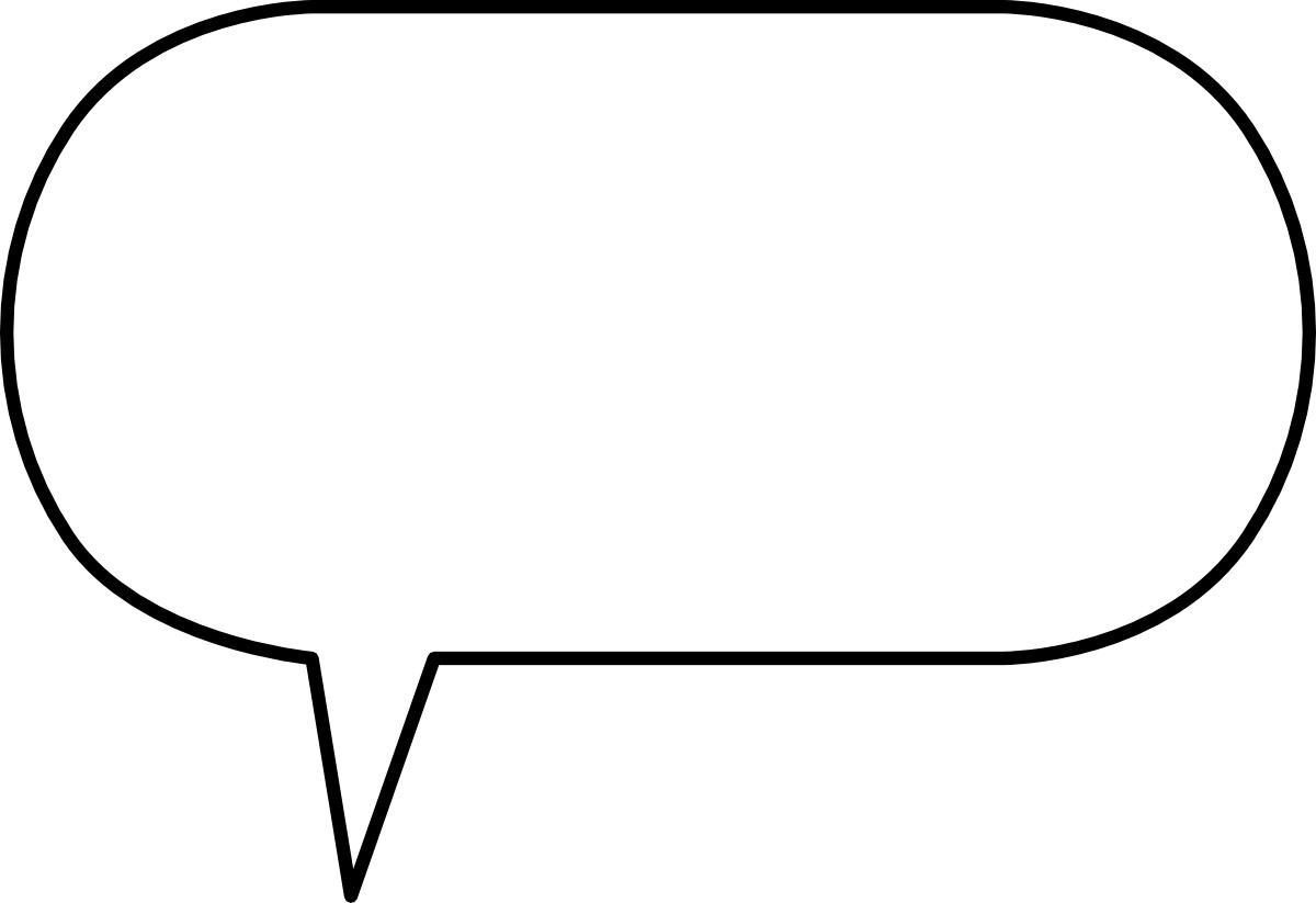 Saying clipart speech bubble #7