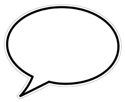 Saying clipart speech bubble #4