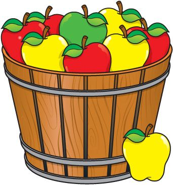 Basket clipart bushel basket Clipart best pommes Pinterest Pin