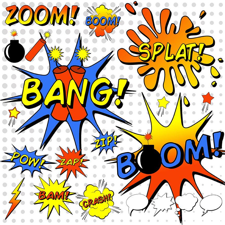 Saying clipart superhero Clipart Word Book Comic Book