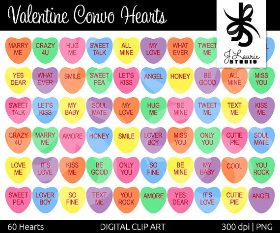 Saying clipart sweetheart candy #13
