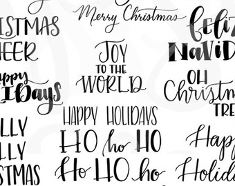 Saying clipart winter wonderland Style Calligraphy clipart Sayings Holiday