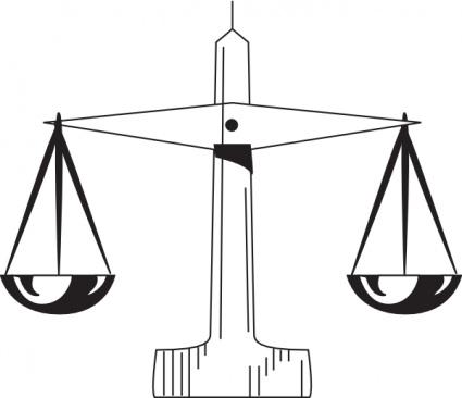 Scale clipart supreme court #12
