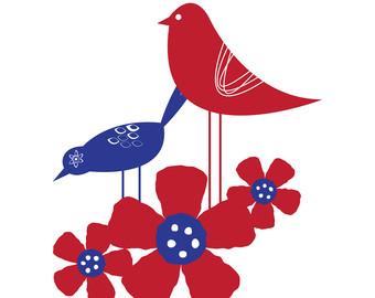 Folk clipart bird Clipart Scandinavian Scandinavian cliparts