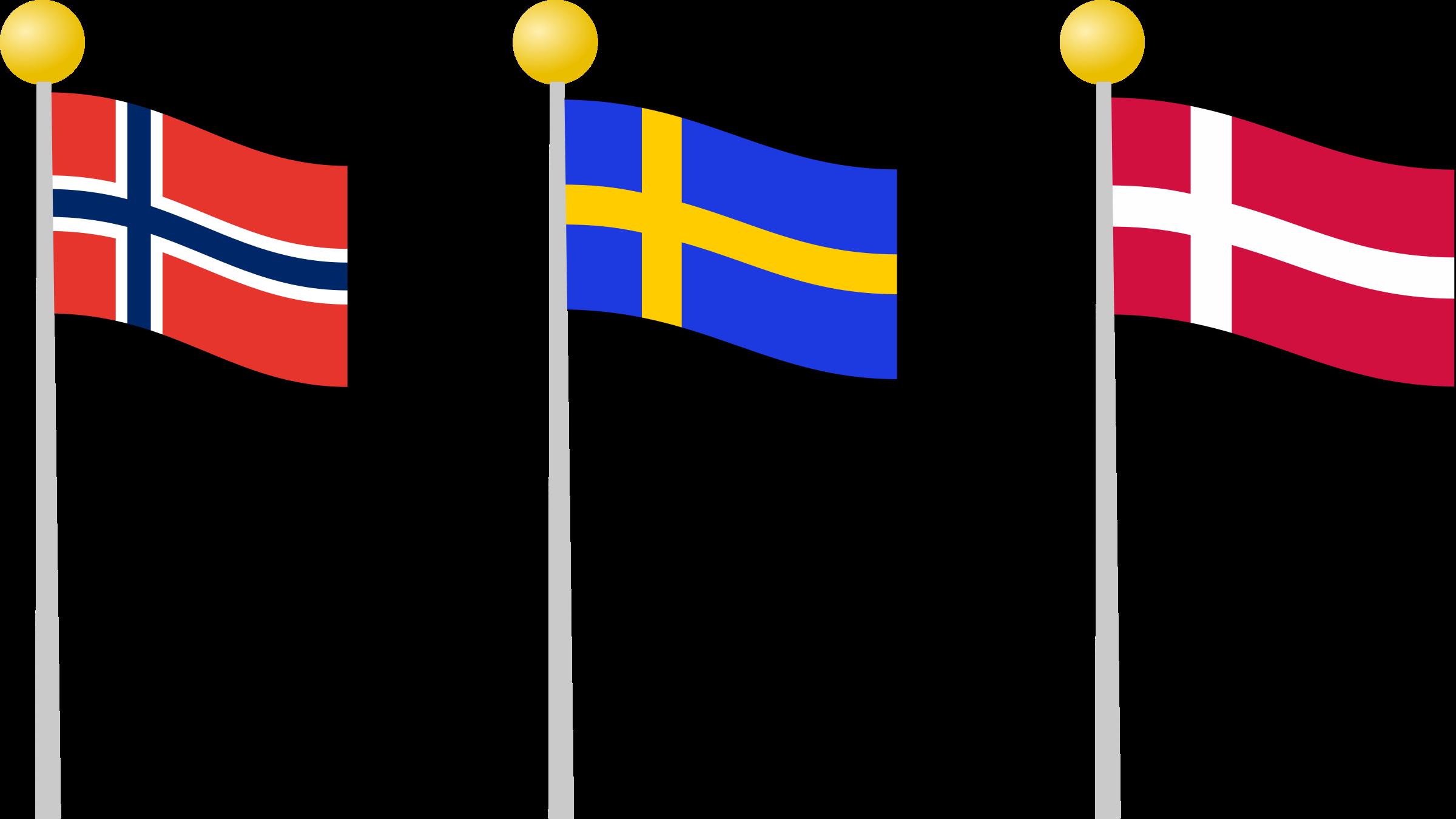 Scandinavia clipart Flags Clipart Scandinavia flags Scandinavia