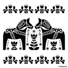 Scandinavia clipart dala horse Dala free Folk white art