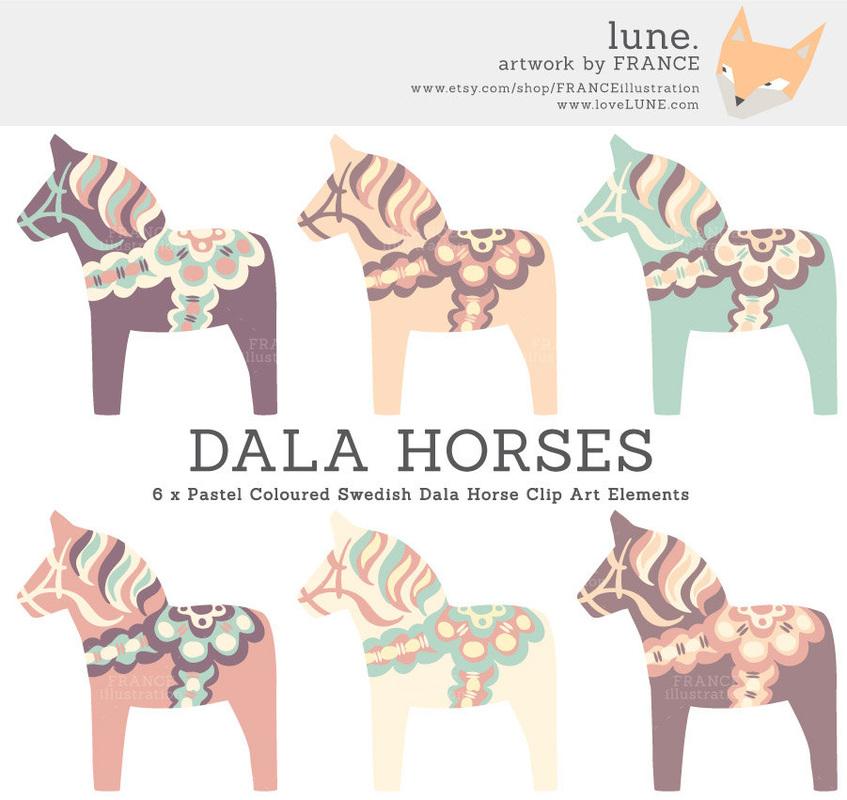 Scandinavia clipart dala horse LUNE HORSES DALA  PASTEL