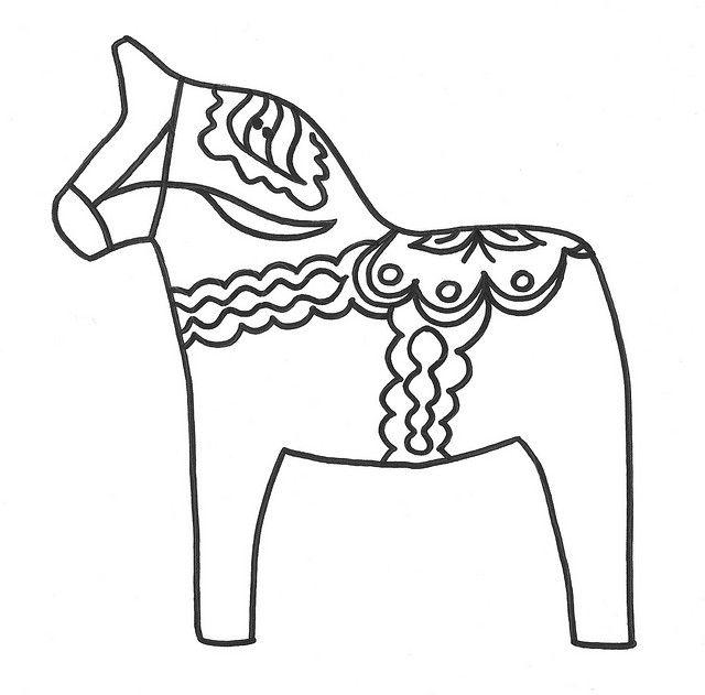 Scandinavia clipart dala horse Dala 344 horse Pinterest pattern