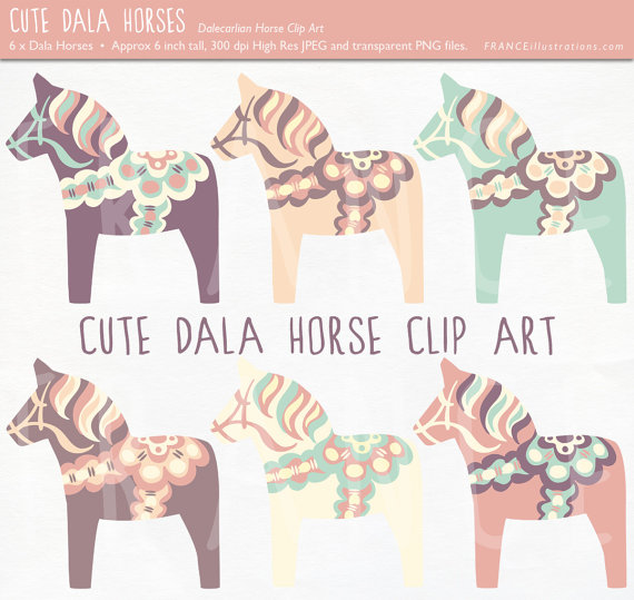Scandinavia clipart dala horse Color Folk Art Art Scandinavian