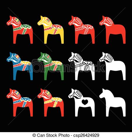 Scandinavia clipart dala horse Illustration csp26424929 Symbol  of