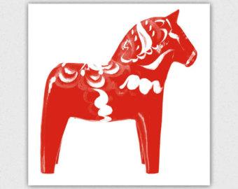 Scandinavia clipart dala horse Clipart Dala collection Etsy horse