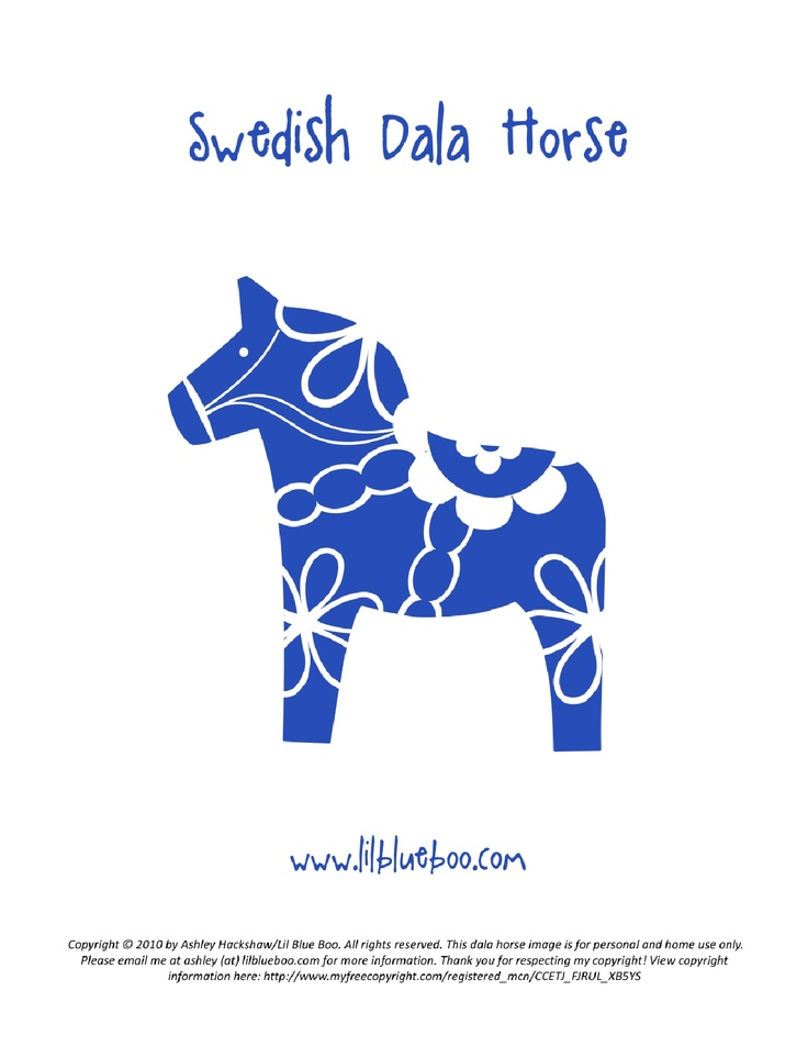 Scandinavia clipart dala horse Fun could for on to
