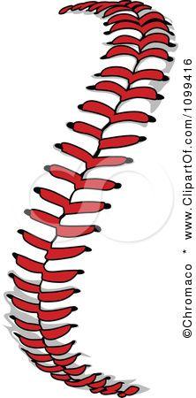 Baseball clipart lace #3