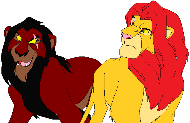 Scar clipart uncle Scar and simba scar by