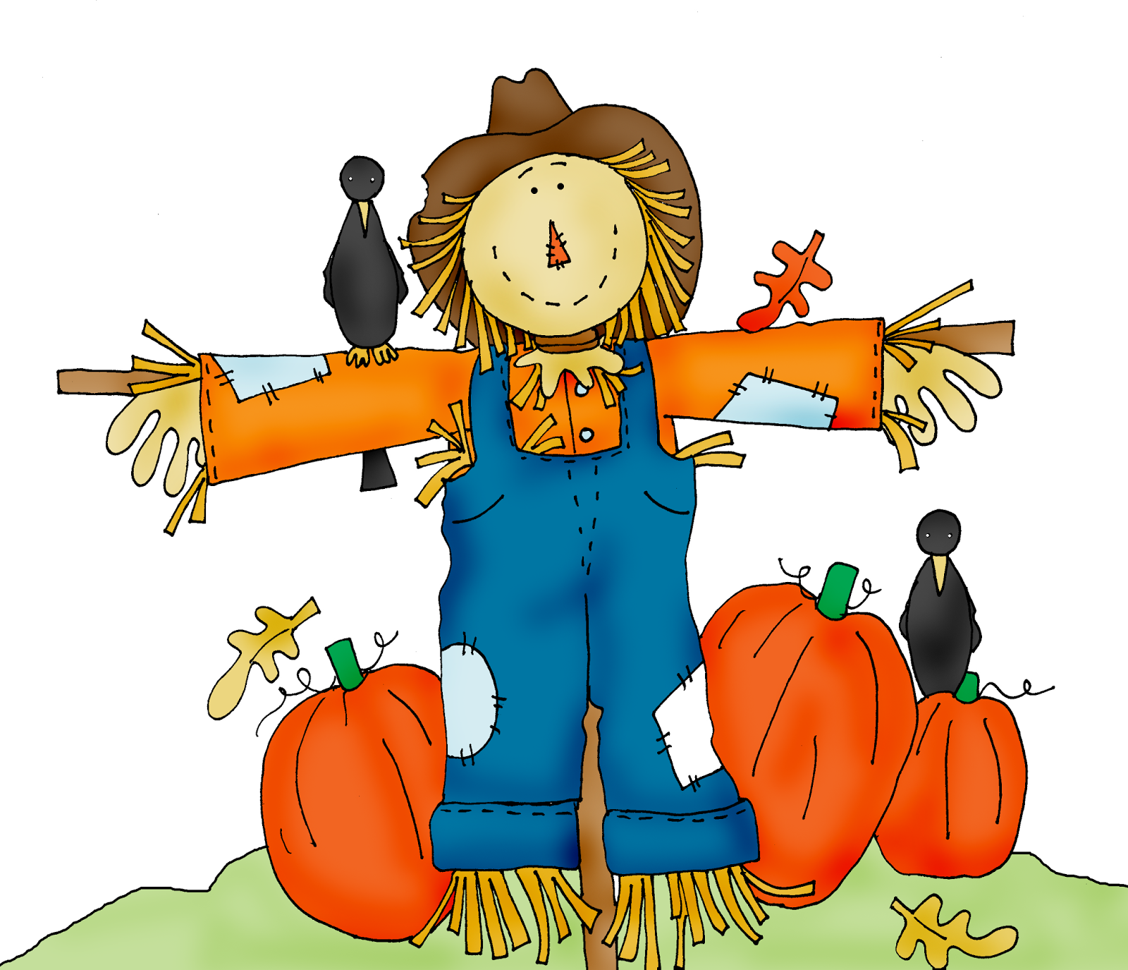 Scarecrow clipart Patch clipart free halloween Scarecrow