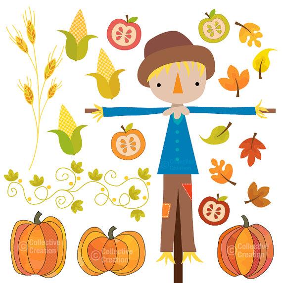 Scarecrow clipart autumn Clip Clipart – Clip Fall