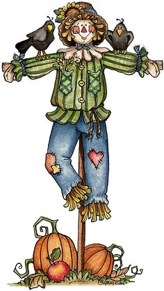 Scarecrow clipart autumn Harvest 2 Colored harvest Fall