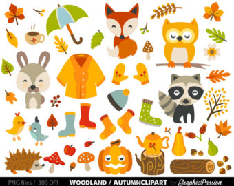 Scarecrow clipart autumn animal Clip Etsy Clip Forest Baby