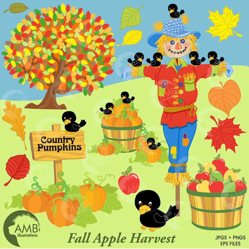 Scarecrow clipart baby Fall clipart clipart clipart Autumn