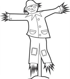 Scarecrow clipart black and white Clipart Free clipart scarecrow image